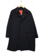 ROSSO(ロッソ)の古着「ナイロンオーバーコート コート」|ネイビー