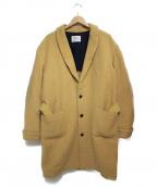 ALLEGE(アレッジ)の古着「オーバーチェスターコート コート」 ベージュ