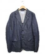 lideal(リディアル)の古着「リネンジャケット ジャケット」|グレー