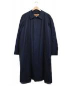 Aquascutum(アクアスキュータム)の古着「ステンカラーコート コート」 ネイビー