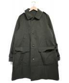 nano&co(ナノアンドコー)の古着「ステンカラーコート コート」 オリーブ