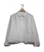 URU(ウル)の古着「ショート丈シャツ シャツ」|ホワイト