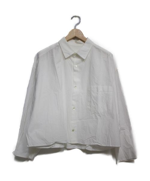 URU(ウル)URU (ウル) ショート丈シャツ シャツ ホワイト サイズ:2の古着・服飾アイテム