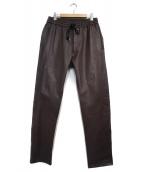 STUDIO SEVEN(スタジオ セブン)の古着「シープスキンレザーパンツ パンツ」|ブラウン