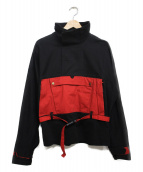 C2H4(シーツーエイチフォー)の古着「Ice Cold Pocket Pullover ジャケット」|ブラック