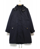 allureville(アルアバイル)の古着「ライナー付モッズコート コート」|ネイビー