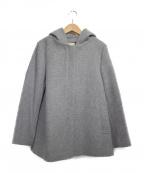 khaju(カージュ)の古着「フーデッドコート コート」|グレー