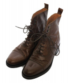 SARTORE(サルトル)の古着「レースアップブーツ ブーツ」 ブラウン