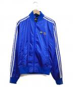 adidas(アディダス)の古着「トラックジャケット ジャケット」|ブルー