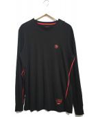 DIESEL(ディーゼル)の古着「ロングスリーブカットソー」|ブラック