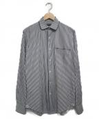 GABRIELE PASINI(ガブリアルパジーニ)の古着「ストライプシャツ シャツ」|ホワイト×ブラック