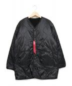 ALPHA INDUSTRIES(アルファ インダストリーズ)の古着「リバーシブルボアコート」|ブラック