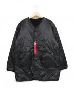 ALPHA INDUSTRIES(アルファインダストリーズ)の古着「リバーシブルボアコート」|ブラック