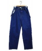 Moname(モナーム)の古着「セミワイドデニム パンツ」|インディゴ
