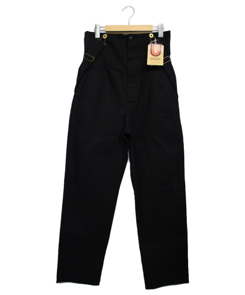 UNIVERSAL OVERALL(ユニバーサルオーバーオール)UNIVERSAL OVERALL (ユニバーサルオーバーオール) HIGH WAISTED OVERALL ブラック サイズ:M 未使用品の古着・服飾アイテム