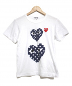 PLAY COMME des GARCONS(プレイコムデギャルソン)の古着「embroidery T-shirt」|ホワイト
