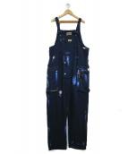 NIGEL CABOURN(ナイジェルケーボン)の古着「ペイント加工オーバーオール」|インディゴ