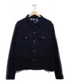 Brilla per il gusto(ブリッラ ペル イル グースト)の古着「ジャガードデニムジャケット ジャケット」 インディゴ