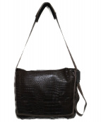 THE NORTHFACE PURPLELABEL(ザノースフェイスパープルレーベル)の古着「型押しショルダーバッグ バッグ」|ブラウン