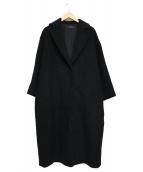 JOURNAL STANDARD(ジャーナルスタンダード)の古着「アンゴラ混ロングコート」|ブラック