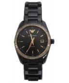 EMPORIO ARMANI(エンポリオアルマーニ)の古着「リストウォッチ 腕時計」 ブラック