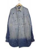 Danke schon(ダンケシェーン)の古着「Big DenimShirts デニムシャツ」|インディゴ