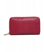 LOEWE(ロエベ)の古着「リネンコインケース 財布」 ショッキングピンク