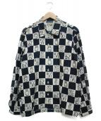 WEIRDO(ウィアード)の古着「ブロックチェックシャツ シャツ」|ホワイト×ブラック