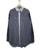 LAUREN RALPH LAUREN(ローレン ラルフローレン)の古着「切替シャツ シャツ」|ネイビー×ホワイト