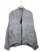YANTOR(ヤントル)の古着「ツムギコットンブルゾン  ジャケット」|グレー