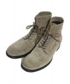BUTTERO(ブッテーロ)の古着「レースアップブーツ ブーツ」|ベージュ