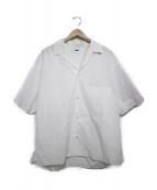 H BEAUTY&YOUTH(エイチ ビューティアンドユース)の古着「OPEN COLLAR SHORT SLEEVE SHIRT」|ホワイト