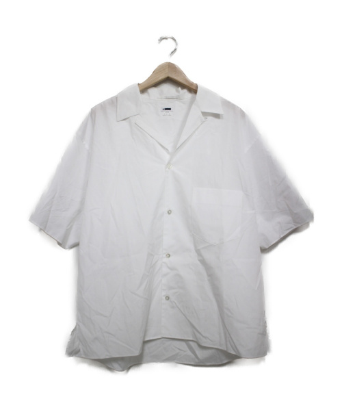 H BEAUTY&YOUTH(エイチ ビューティアンドユース)H BEAUTY&YOUTH (エイチ ビューティアンドユース) OPEN COLLAR SHORT SLEEVE SHIRT ホワイト サイズ:LARGEの古着・服飾アイテム