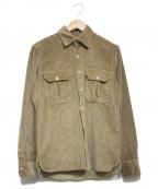 giannetto(ジャンネット)の古着「コーデュロイシャツ」|ベージュ