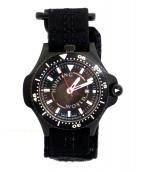 ()の古着「コンパス付腕時計」 ブラック