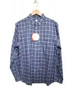 THE NORTH FACE(ザノースフェイス)の古着「チェックシャツ シャツ」|ブルー
