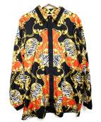 ()の古着「SCARF PRINT SHIRT  シャツ」|ブラック