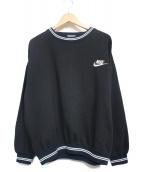 NIKE(ナイキ)の古着「90sヴィンテージロゴスウェット」|ブラック