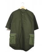 YARDAGE by MARVY JAMOKE(ヤーデージバイマービージャモーク)の古着「プルオーバーシャツ」 カーキ