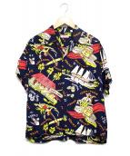 Sun Surf(サンサーフ)の古着「アロハシャツ」 ネイビー