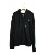 EMPORIO ARMANI(エンポリオアルマーニ)の古着「ジップパーカー」|ブラック