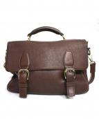 土屋鞄(ツチヤカバン)の古着「ツインベルトフラップバッグ」|ブラウン
