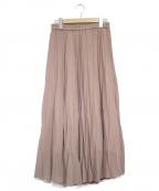 Droite lautreamont(ドロワットロートレアモン)の古着「ハイツイストシフォンスカート」|ピンク