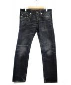 Dior Homme(ディオールオム)の古着「ユーズド加工ストレートデニムパンツ」|インディゴ