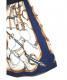 中古・古着 AMERI (アメリ) スカーフドッキングレイヤードスカート ネイビー サイズ:表記無し:7800円