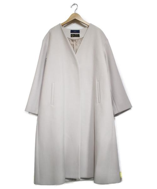 SHIPS(シップス)SHIPS (シップス) MANTECOノーカラーコート ベージュ サイズ:38の古着・服飾アイテム