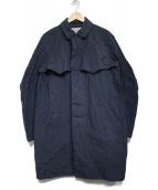 KOLOR(カラー)の古着「製品染めナイロンステンカラーコート」|ネイビー