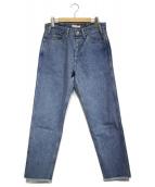 LIVING CONCEPT(リビングコンセプト)の古着「5ポケットアイスウォッシュデニムパンツ」|インディゴ