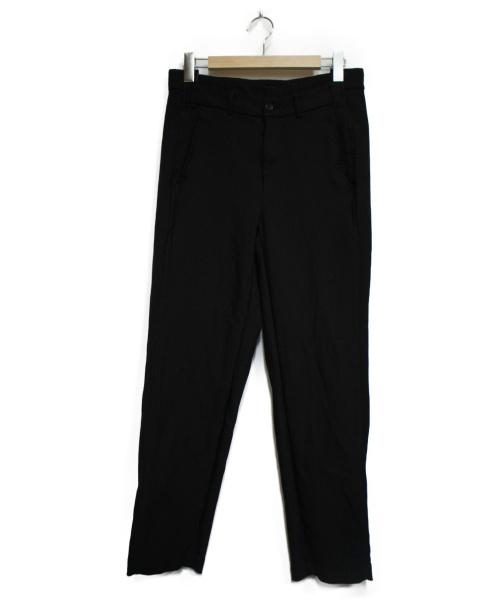 BLACK COMME des GARCONS(ブラックコムデギャルソン)BLACK COMME des GARCONS (ブラックコムデギャルソン) 製品洗いストレッチパンツ ブラック サイズ:S AD2019の古着・服飾アイテム