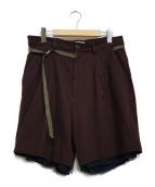 BED J.W. FORD(ベッドフォード)の古着「Easy Shorts」|ボルドー